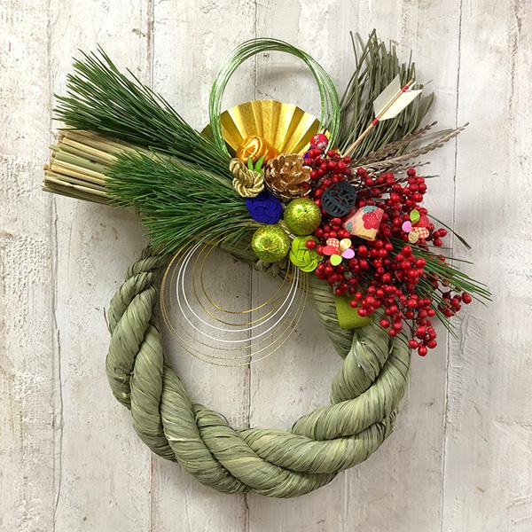 「お正月飾りを作りましょう」 <br>しめ縄を使ったNEW YEAR Wreath②