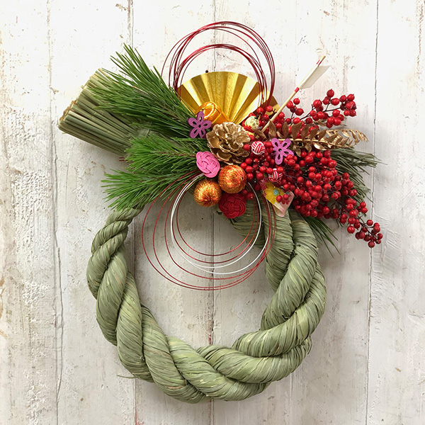 「お正月飾りを作りましょう」 <br>しめ縄を使ったNEW YEAR Wreath①